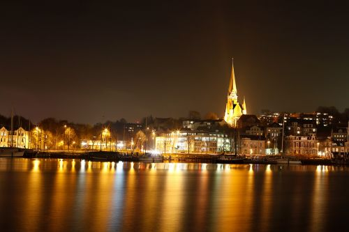 flensburg port night photograph