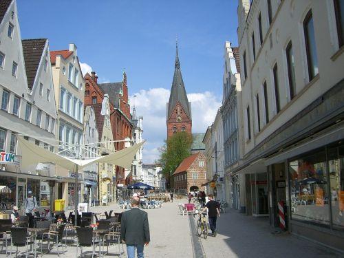 flensburg downtown pedestrian zone