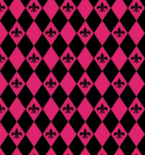 Fleur De Lys Diamonds Pattern