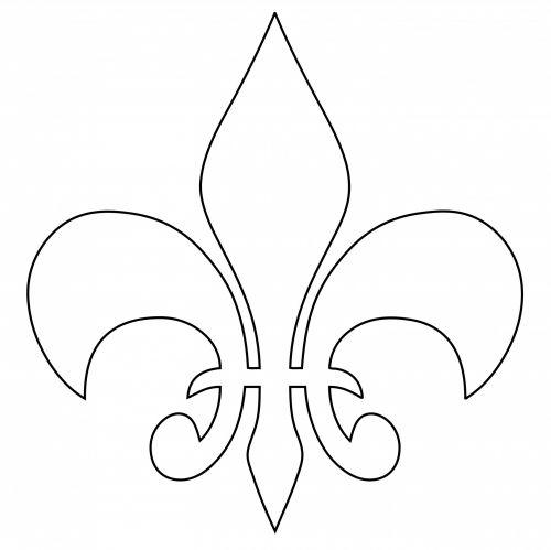 fleurdelys,fleurdelis,outline,shape,. fleur,fleur  de lis ...