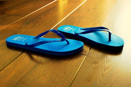 flip flops summer blue