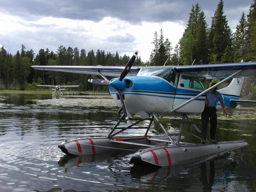 float plane lake float