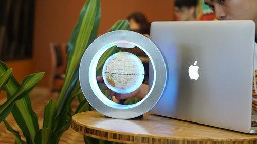 floating globe  mac  technology