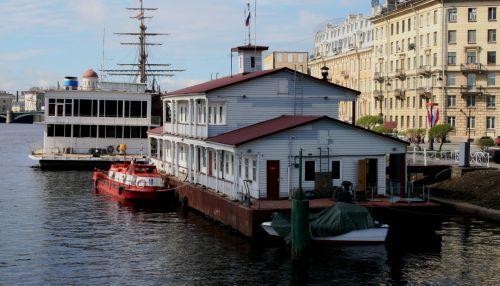 Floating House On Neva River