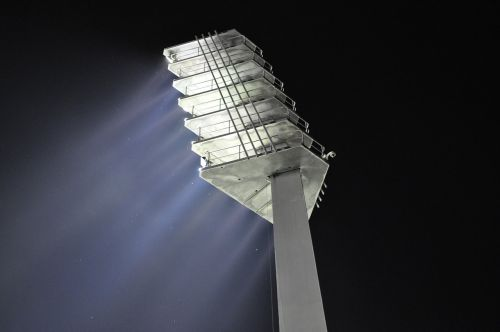 flood light night football