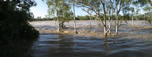 floodwaters floods river