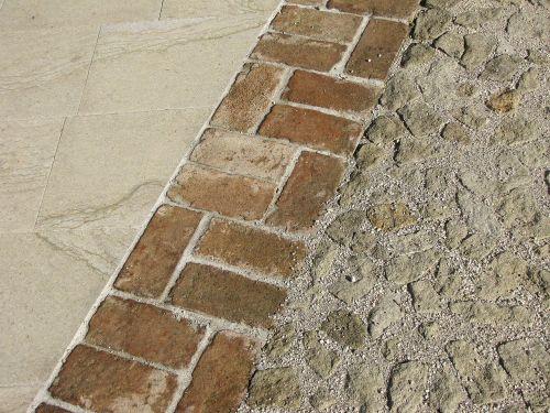 floor bricks wall