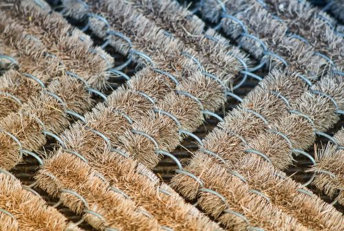 floor mat brush grid