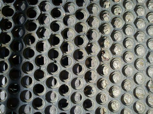 floor mat hexagons combs