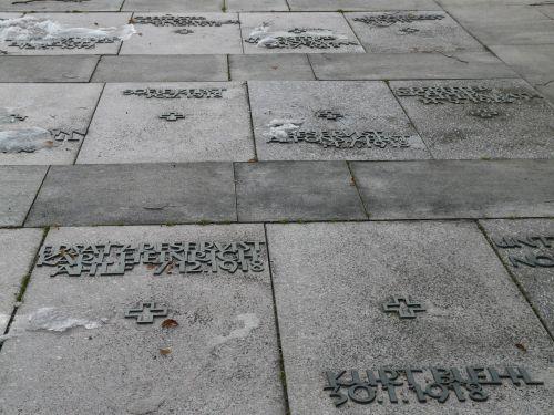 floor slats graves memorial stones