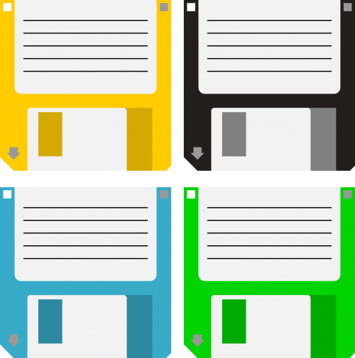 floppy disk data storage