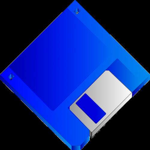 floppy disk blue