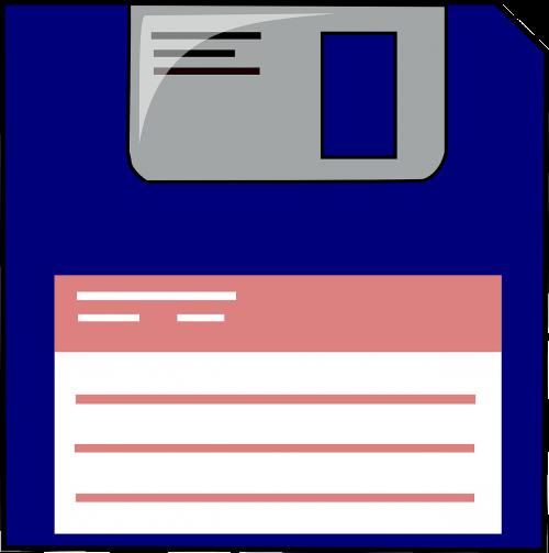 floppy disc data storage label