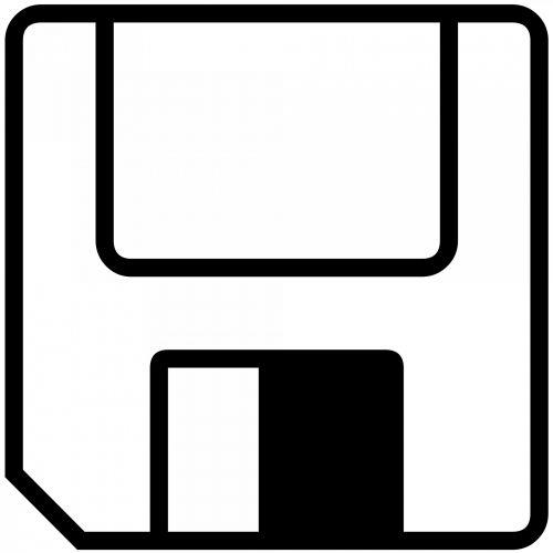 Floppy Disk Silhouette
