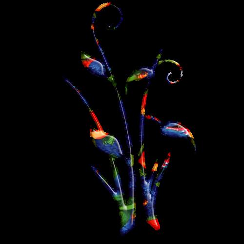flora abstract scrolls batik design multi color