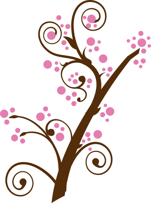 floral,twig,branch,tree,pink,cherry blossom,plum blossom,blossom,flowering tree,free vector graphics
