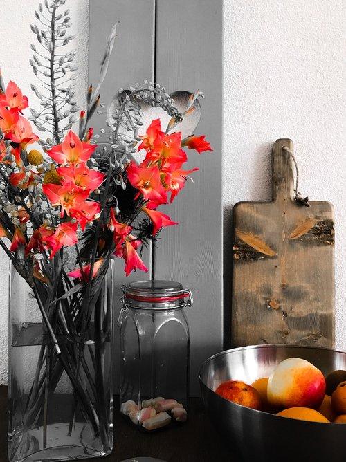 gėlių, maisto, dizainas, natūralus, vasarą, gėlės, vaisių, vasara