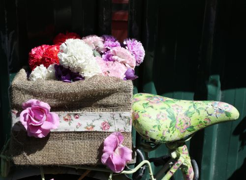 Floral Bicycle Saddle