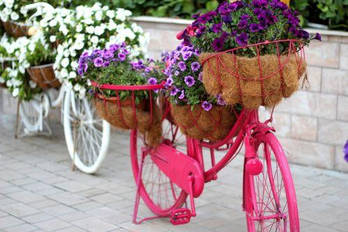 floral bike garden decoration