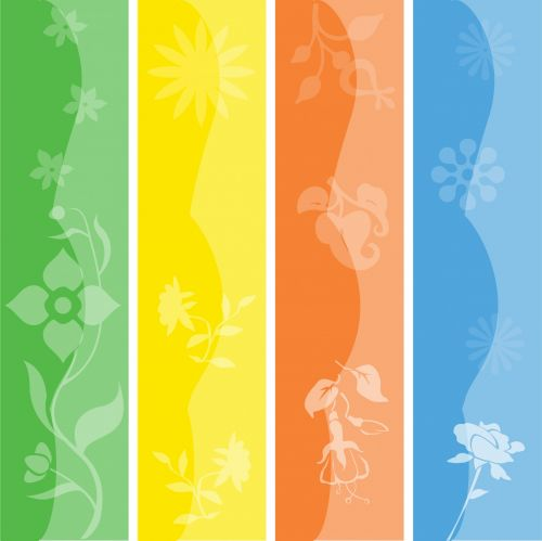 Floral Colorful Seasonal Banners