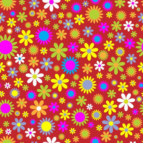 Floral Flowers Retro Background