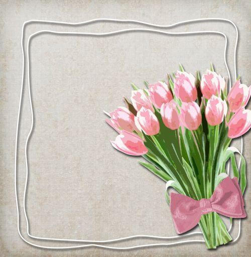 Floral Frame On Vintage Background