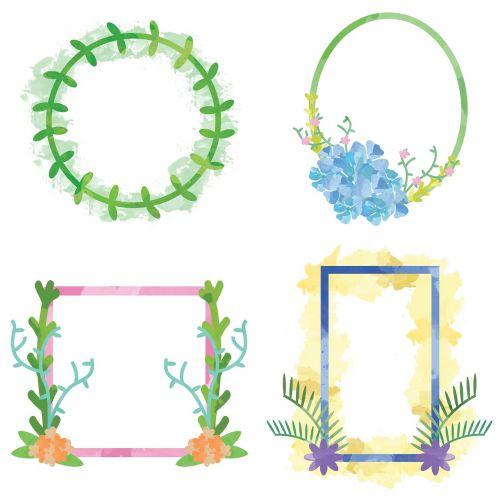 floral frames watercolor frames frames