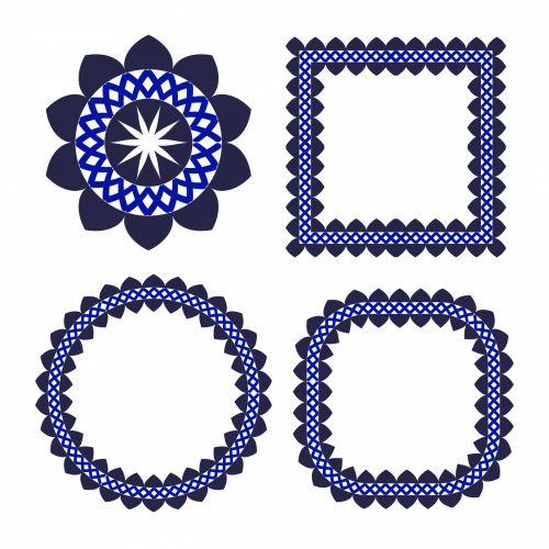 Floral Frames Elements