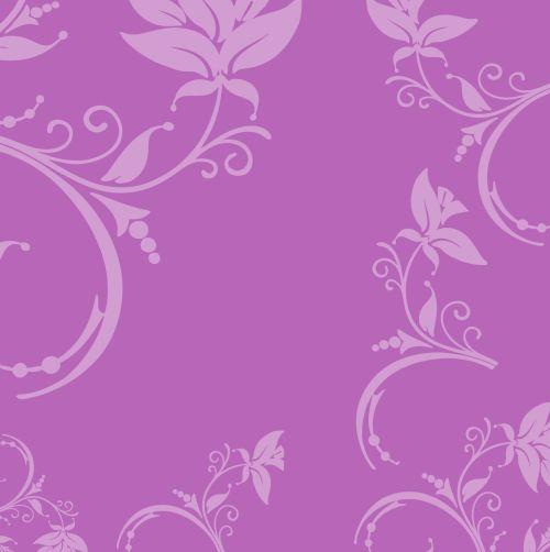Floral Leaf Flourish Purple