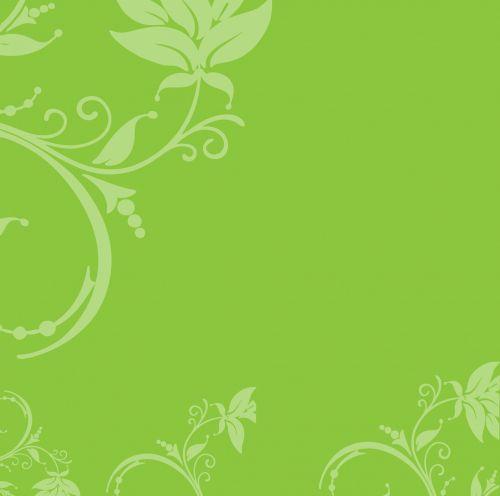 Floral Leaf Swirls Background