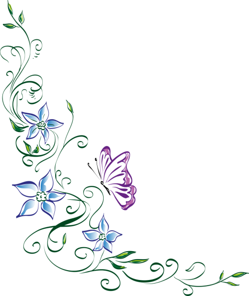 floral ornament flower butterfly