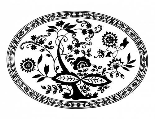 Floral Pattern Stencil