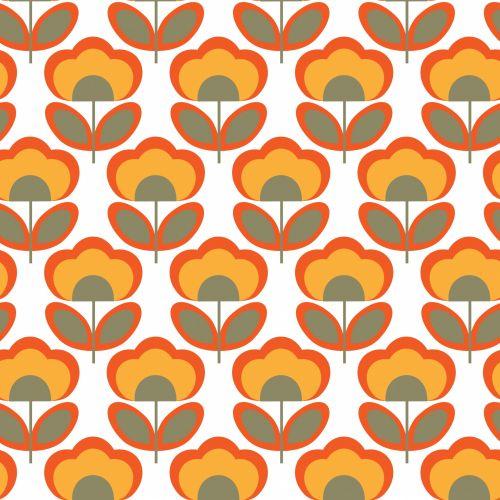 Floral Retro 70s Wallpaper