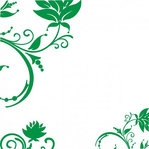 Floral Swirls Decoration