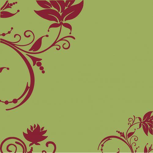 Floral Swirls Decorative Wallpaper