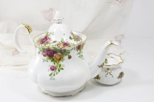 Floral Teapot And Sugar Bowl