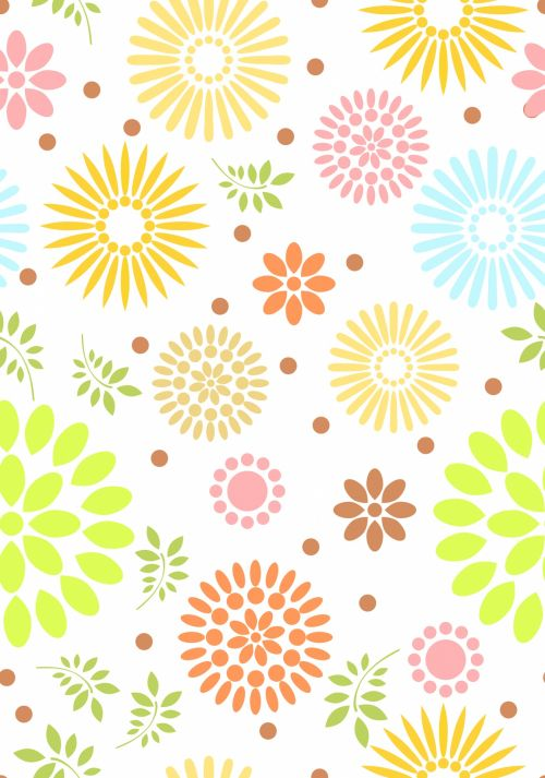 Floral Wallpaper Abstract Pattern