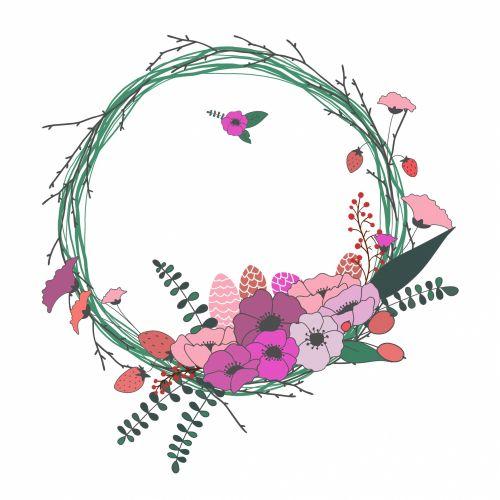 Floral Wreath, Garland Vintage