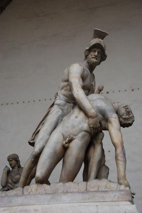 Florencija,Patroclo,menelias,lanzi lodžija,turizmas,italy,statula,Toskana