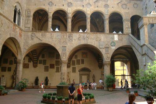 renesansas, teismas, pilis, arcade, gerai, viduje, stulpeliai, paveldas, istorija, Florencija 2000 1