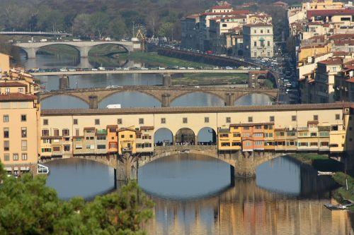 florence ponte vecchio landscape