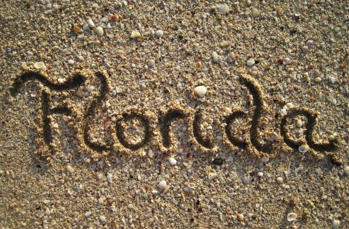 florida in sand painted beach