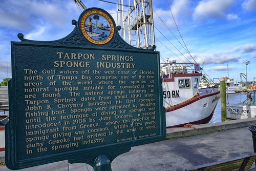 florida  tarpon springs  boats