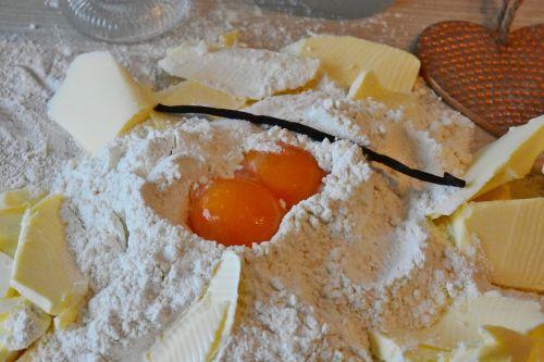 flour egg butter