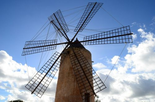 flour mill,mill,mallorca,spring,windmill,wind,windräder,wind power,turn,wing,windmills,grind,mills