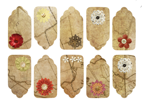 flower map tags