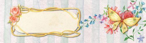 flower butterfly banner