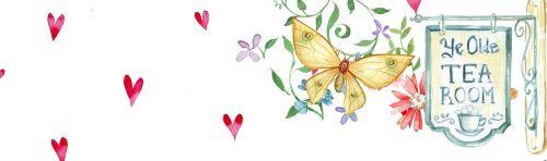 flower heart butterfly