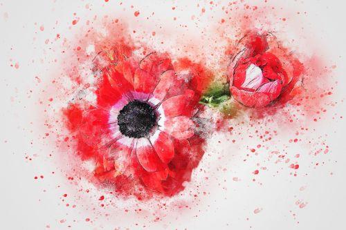 flower red art