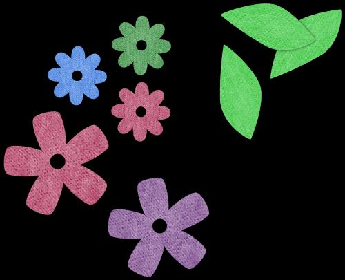 flower leave scrapbook
